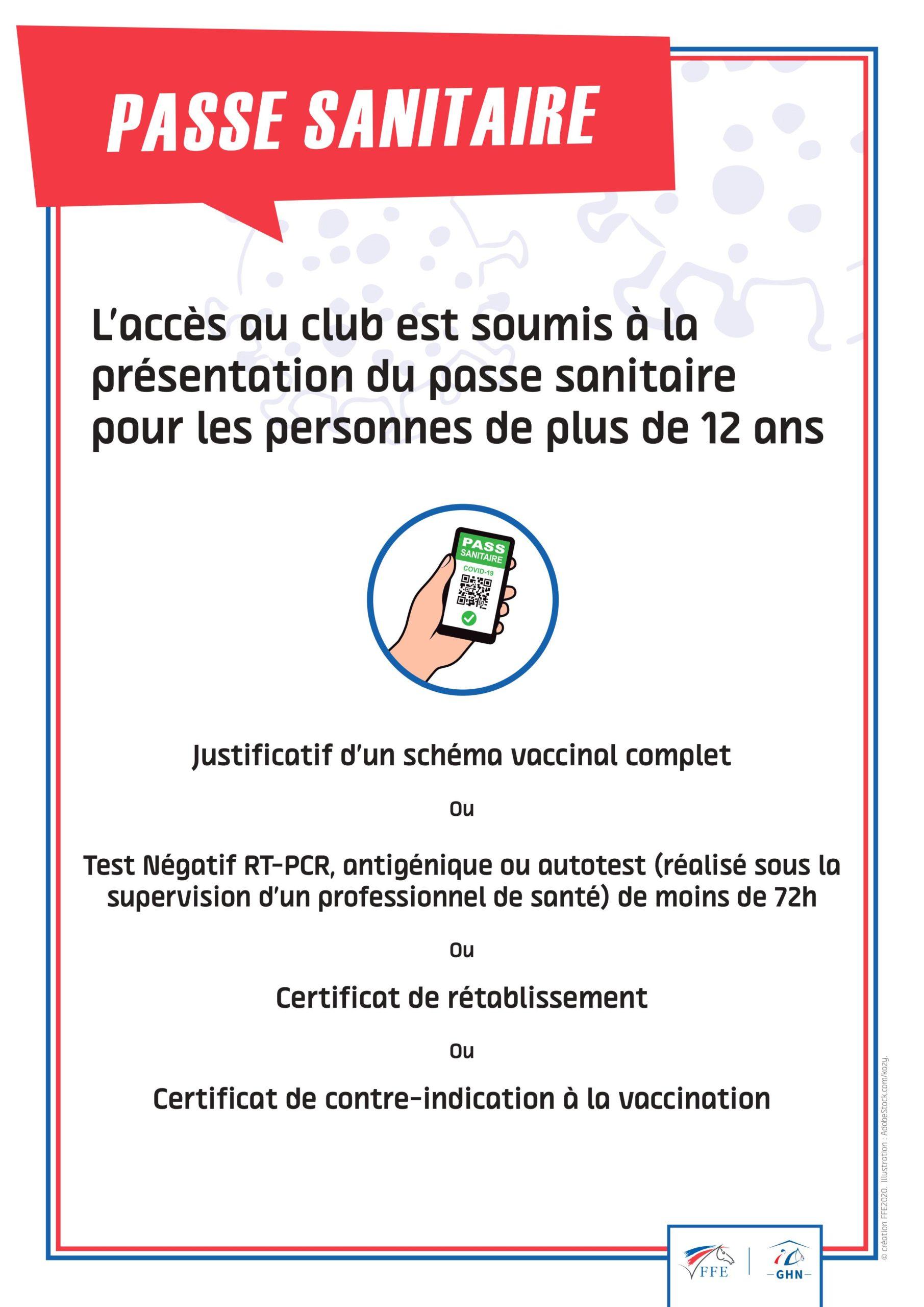 Pass sanitaire applicable au 22 septembre 2021